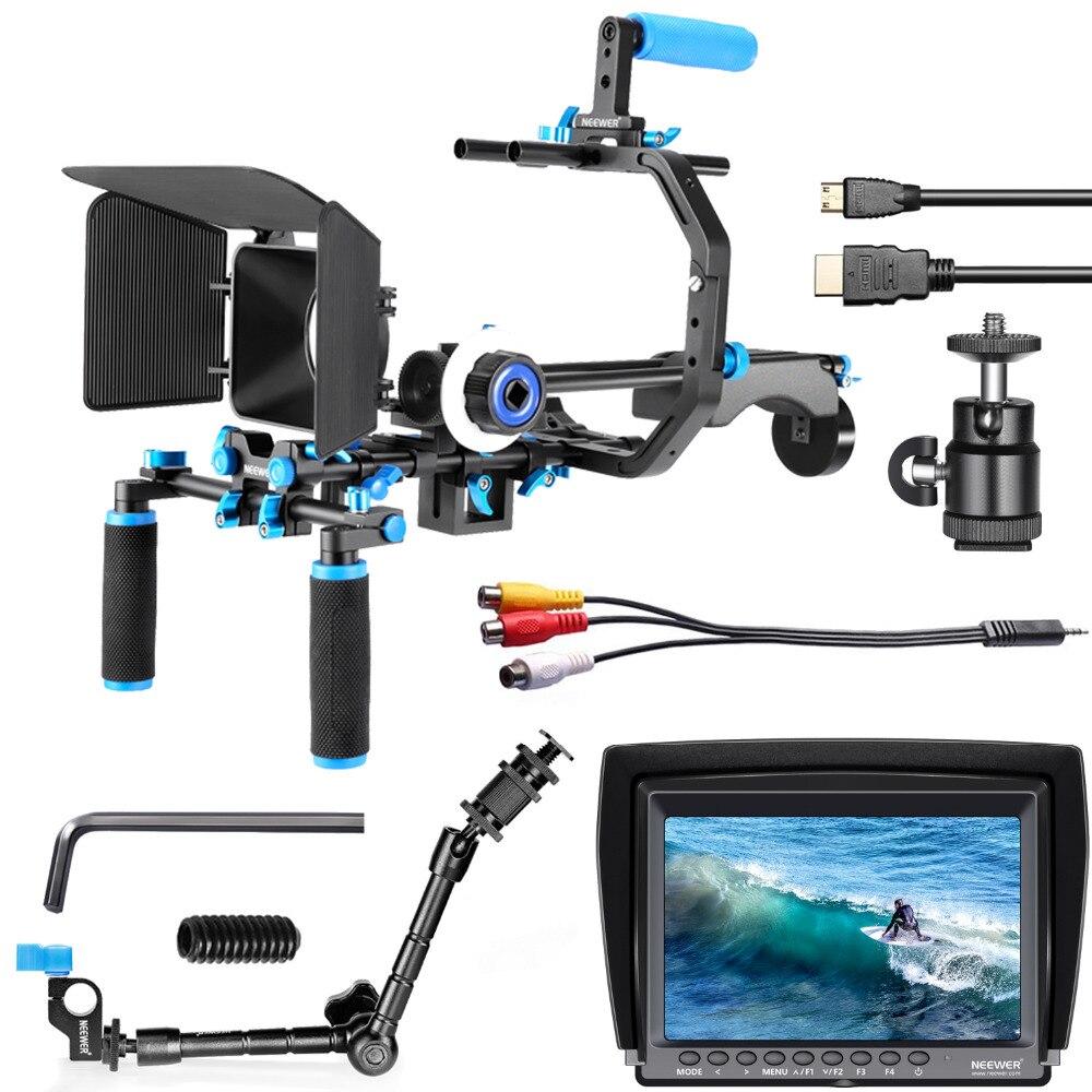 Neewer Кино Видео решений Системы комплект с Экран поля монитора и Магия Кронштейн для Canon Nikon sony цифровых зеркальных камер видеокамеры