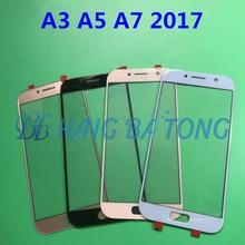 10 pcs Original Display LCD de vidro Para SAMSUNG Galaxy A3 A5 A7 2017 A320 A520 A720 Frente Outer Lente de Vidro tampa Do Painel de toque