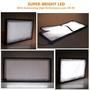 Image 2 - SAMTIAN FL 3060 Flexible LED Video Light Photography Lighting Dimmable 5500K 384 LEDs  30*60cm Panel Light for Video Photo Lamp