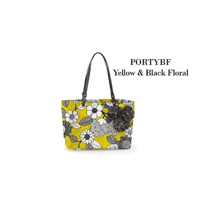Joann Marrie Designs PORTYBF Portofino Bag - Yellow and Black Floral Pack of 2 велошлем 2016 tld troy lee designs d3 speeda yellow cf