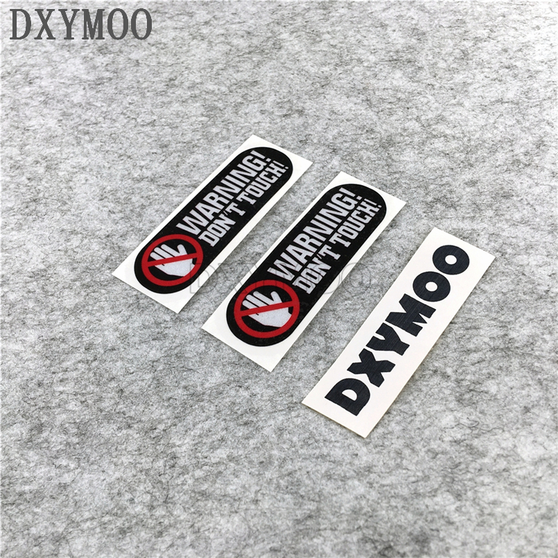 2PCS Car Styling Warning Danger DO NOT TOUCH Car Stickers Motorcycle Bike Decals 8x2cm