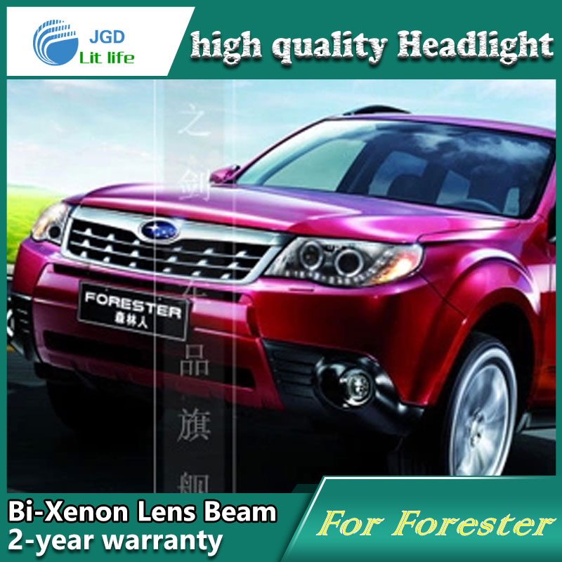 Car Styling Head Lamp case for Forester 2009-2012 Headlights LED Headlight DRL Lens Double Beam Bi-Xenon HID Accessories car styling led head lamp for ford focus2 headlights 2009 2012 focus led headlight turn signal drl h7 hid bi xenon lens low beam