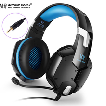 KOTION EACH G1200 Professional Gaming Headset Headphones with Mic 3.5mm plug Stereo Bass Headband Noise Cancelling for laptop