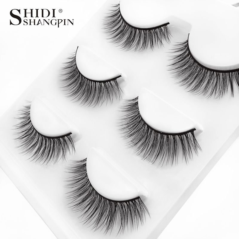 HTB1 gBjXOzxK1Rjy1zkq6yHrVXaJ SHIDISHANGPIN 3 pairs mink eyelashes natural fake eye lashes make up handmade 3d mink lashes false lash volume eyelash extension