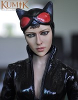 1/6 Batman Catwoman Figure Doll With Black Leather Clothing Set Collectible Toy Models KMF029 Gift Free Shipping