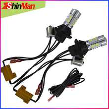 ShinMan CAR Turn light 1156 BAU15S PY21W LED DRL  Car Daytime Running Light + Signal All In One