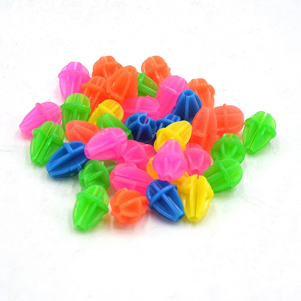 36 Pcs Bicycle Wheel Spoke Colorful Plastic Bead Multi Color Children Clip Decoration Bike Cycling Accessories