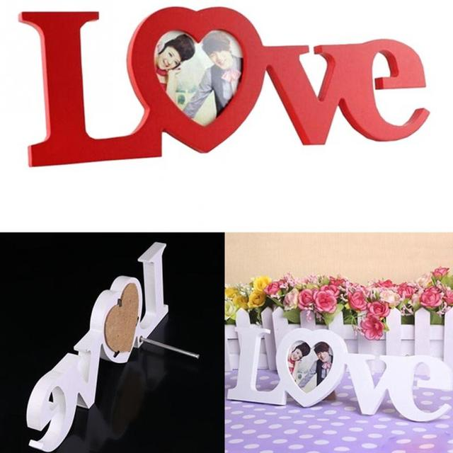 Wooden Picture Frames Cute Home Decoration Gift Wall Decor Romantic LOVE Design Photo Picture Frame Europe Wedding Decoration