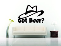Wall Car Decor Vinyl Sticker Decal Design Got Beer Phrase Fun Funny