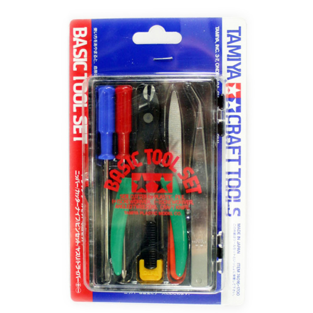 OHS Tamiya 74016 Model Basic Tool Set for Model Kit Professional Hobby Cutting Tools Accessory