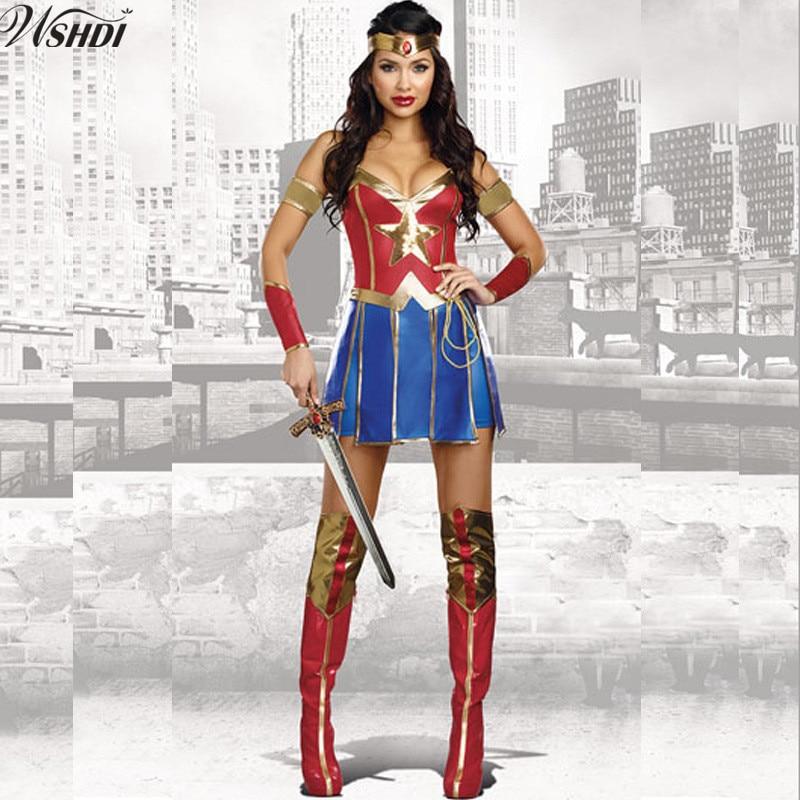 2017 Adult Women Halloween Wonder Woman Cosplay Sexy -4793