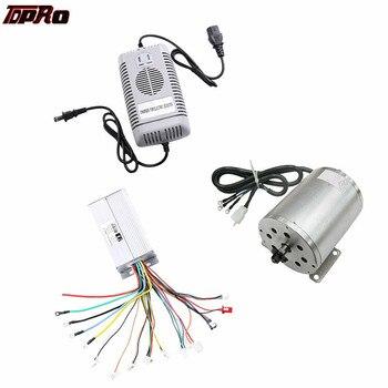 TDPRO-controlador de velocidad del Motor sin escobillas, 1800W, 48V, cargador para Scooter, ATV, Go Kart, Minimoto, Buggy, bicicleta, Pitbike