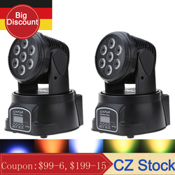 Disco Licht DMX RGBW LED Bühne Licht Moving Head Strahl Party Lichter DMX-512 Led Dj Weihnachten Weihnachten Sound Aktive LED par DJ Licht