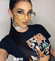 2017 Fashion Sunglasses Women Steampunk Punk Glasses Brand Transparens Glass Myopia UV400 Punk de sol gafas de sol mujer