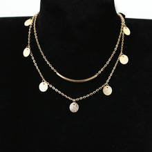 2019 Tin Women Star Real Three Layers And Delicate Collares Moana Choker Fashion Contracted Stars Necklace Collarbone Short Chai rhinestone star collarbone necklace set