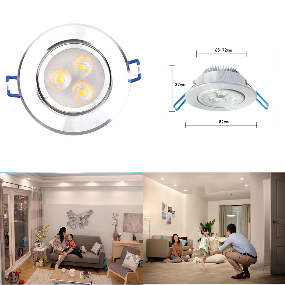 New 3W 220V LED Recessed Ceiling Downlight Spot Lamp Bulb Light W/ Driver 45gNew 3W 220V LED Recessed Ceiling Downlight Spot Lamp Bulb Light W/ Driver 45g