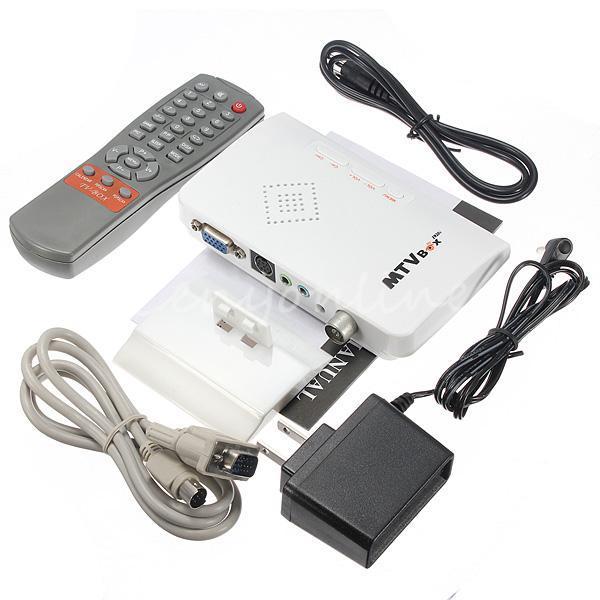 LCD VGA External TV PC BOX Digital Program Receiver Tuner HDTV HD 1080P+Speaker - liang zhiqing's store