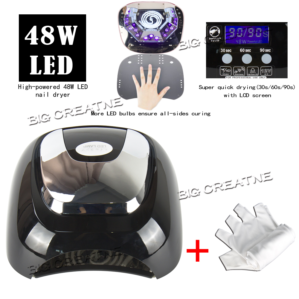 48w CCFL LED Nail Dryer Curing UV Lamp Gel Nail Polish Dryer Machine, with Timer Setting + Anti-UV Gloves Practical Combo Tool sergey v ludkovsky operator algebras over cayley dickson numbers