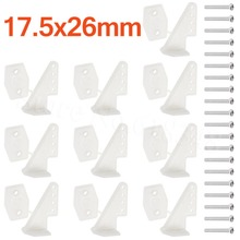 10 Sets Nylon Plastic Horns 17.5×26 4 holes L17.5xW13xH26 Screws For RC Model Airplane Parts KT Aeromodelling Remote Control DIY