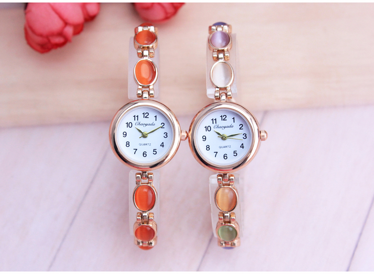 CYD Luxury Women Rose Gold Watches Zircon Crystal Bracelet Watch Business Quartz Wristwatches Ladies Dress Fashion Wrist Watch cute rose gold crystal flower thin strap small dial leather quartz women ladies wristwatches wrist watch gift