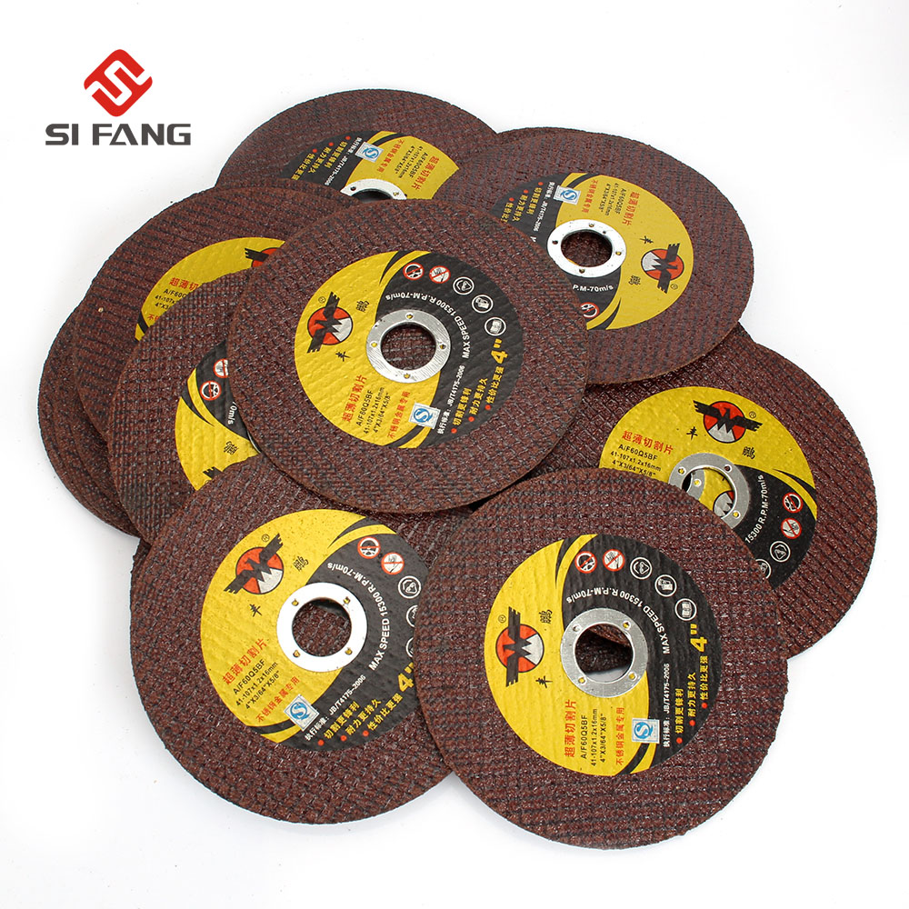 50Pcs 107mm Resin Cut off Wheel Cutting Wheel Grinding Disc For Iron Stainless Steel Metal Angle Grinder Rotary Tool Durable 50pcs set 2 roloc sanding disc scotch brite roll lock coarse surface conditioning for stainless steel standard alloyed steel