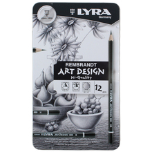 LYRA Lápis Esboço Desenho Arte 4H 6B Conjunto Caixa De Lata