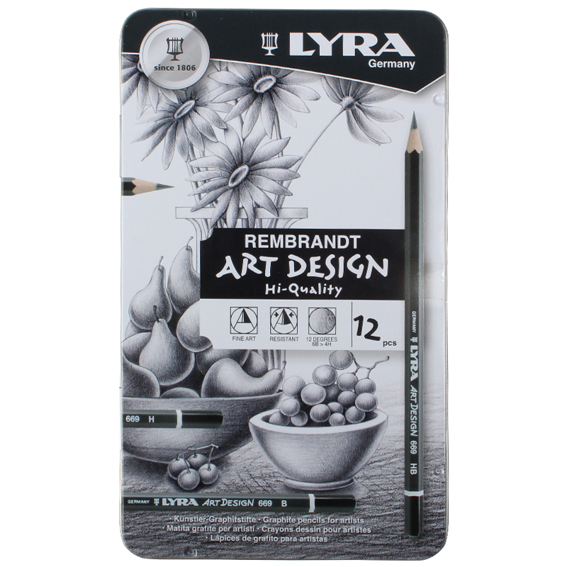 LYRA Sketch Pencil Drawing Design Art 4H 6B Tin Box Set-in Standard Pencils from Office & School Supplies