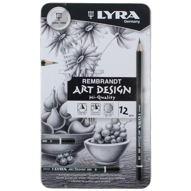 LYRA Sketch Pencil Drawing Design Art 4H 6B Tin Box Set