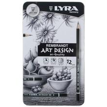Lyra 스케치 연필 드로잉 디자인 아트 4h 6b 주석 상자 세트