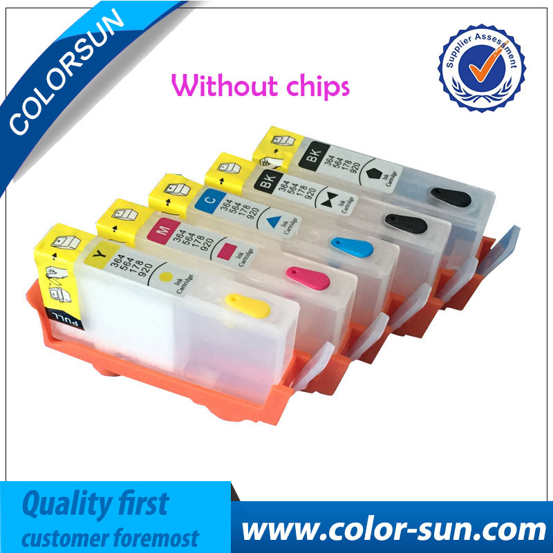 Compatible For HP 364 5pcs Ink Cartridge Officejet Pro B110 C309A C309G B109 CN245C CN503C B209 Printer Without Chip In Cartridges From Computer