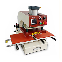 23x30 Pneumatic Press Heat Transfer Machine Clothing Hot Stamping Machine 220V HQS 3023 Sliding Heat Press Machine
