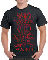 619 Khaleesi Title mens T shirt dragon mother targaryen game tv show thrones Comfortable t shirt,Casual Short Sleeve TEE