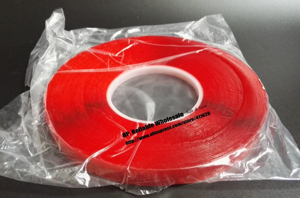 0.5mm Thick, 5x (12mm*33Meters) Clear  Two Sides Acrylic Glue Tape for Car Strip, Glass Joint 0 5mm thick 5 rolls 8mm 33meters transparent double adhesive acrylic glue tape for car strip glass joint