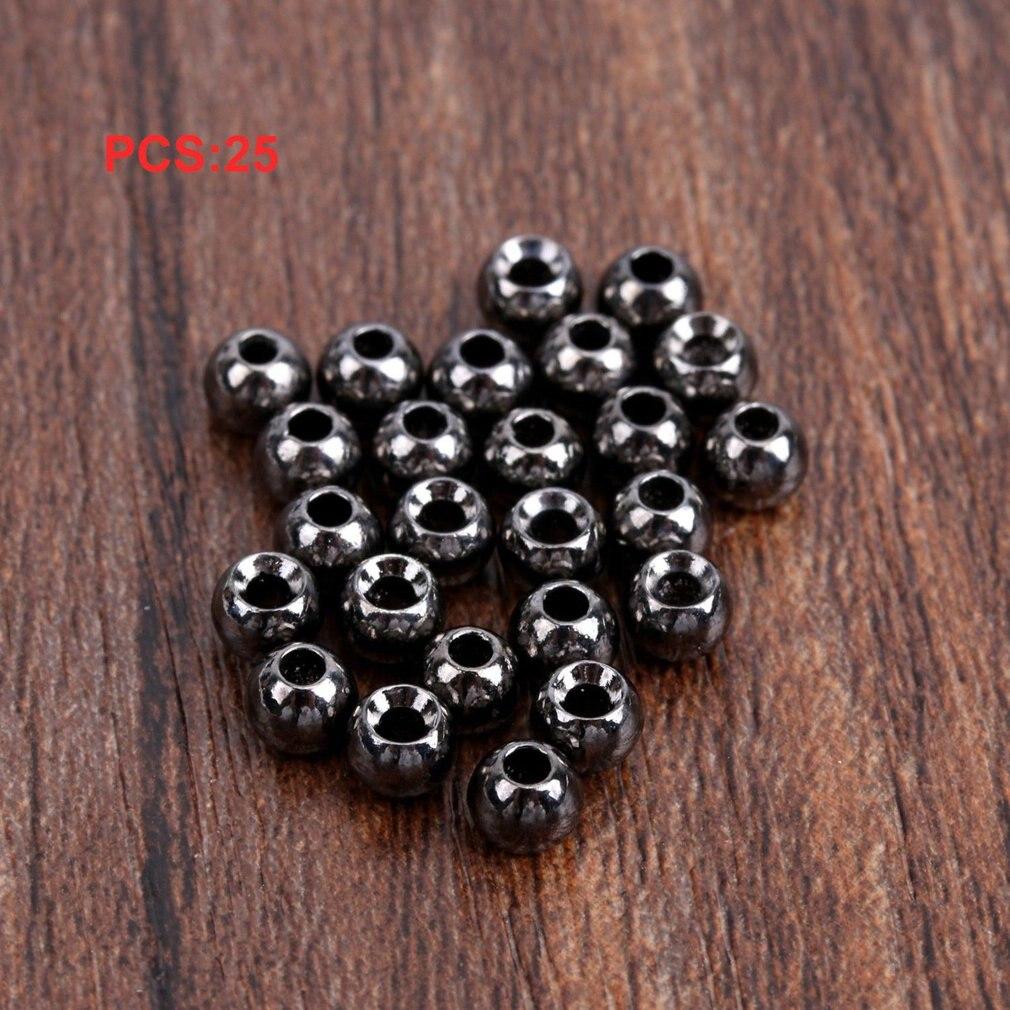 25 stücke Wolfram Schlitz Fliegen Binden Kopf Perlen Nymph Kopf Ball Perlen Fliegen Binden Materialien 4,6mm