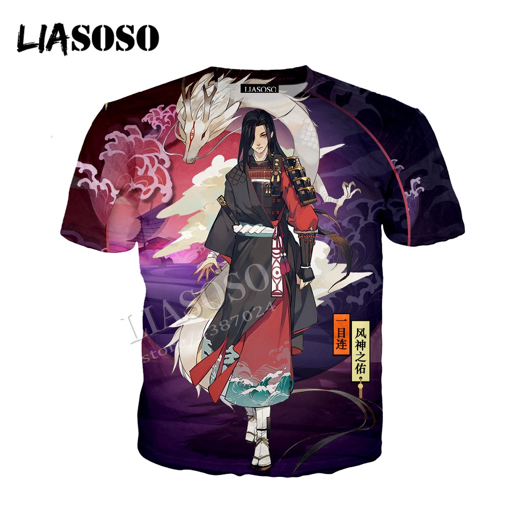 LIASOSO latest 3D printed polyester zipper hoodie Chinese anime game beautiful kimono style Onmyoji men women sportswear CX329