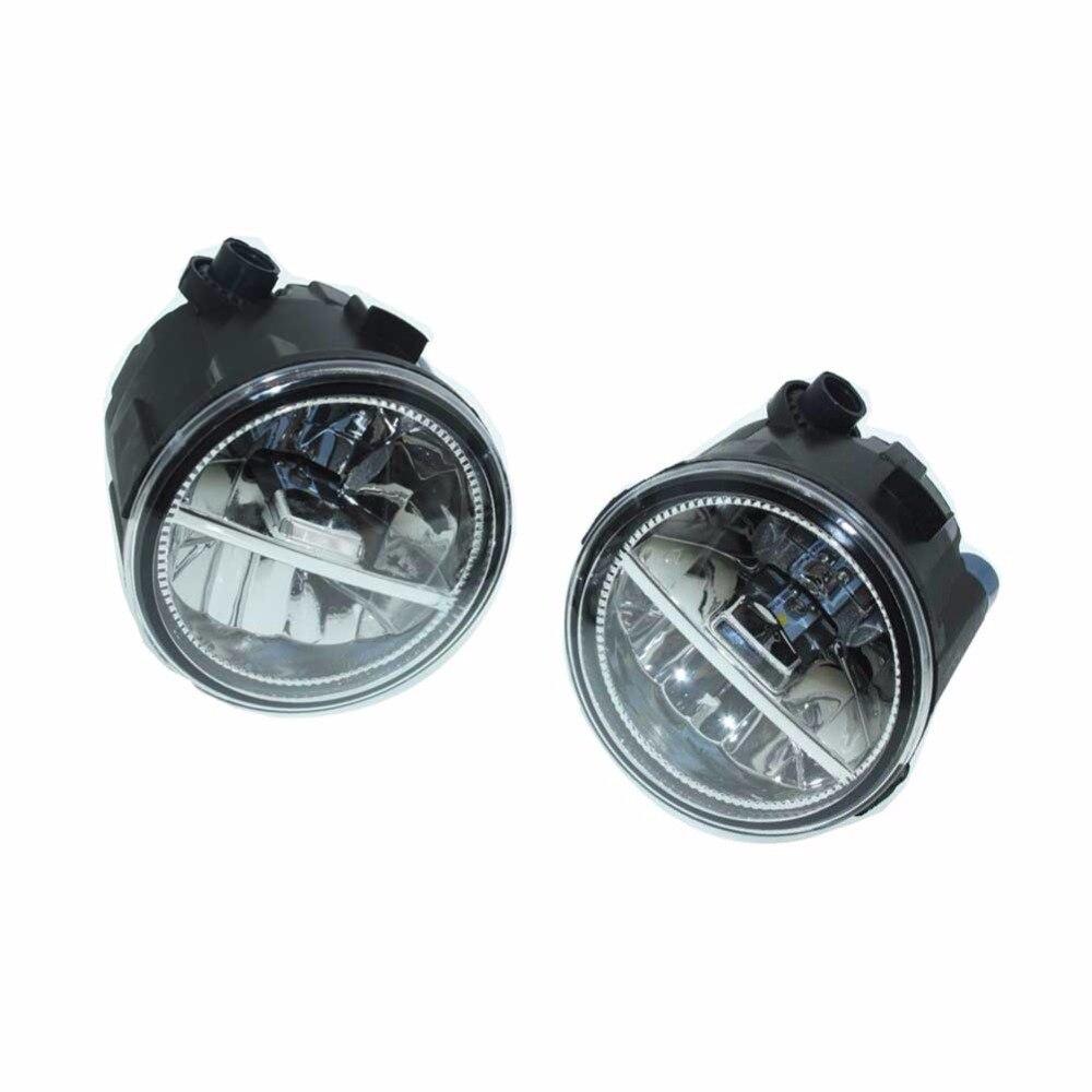 2шт для Ниссан Патрол 3 в III Y62 вездеход закрытый 2010-2015 передний Fumper светодиодные противотуманные огни автомобиля стайлинг ДХО Н11 светодиодные лампы