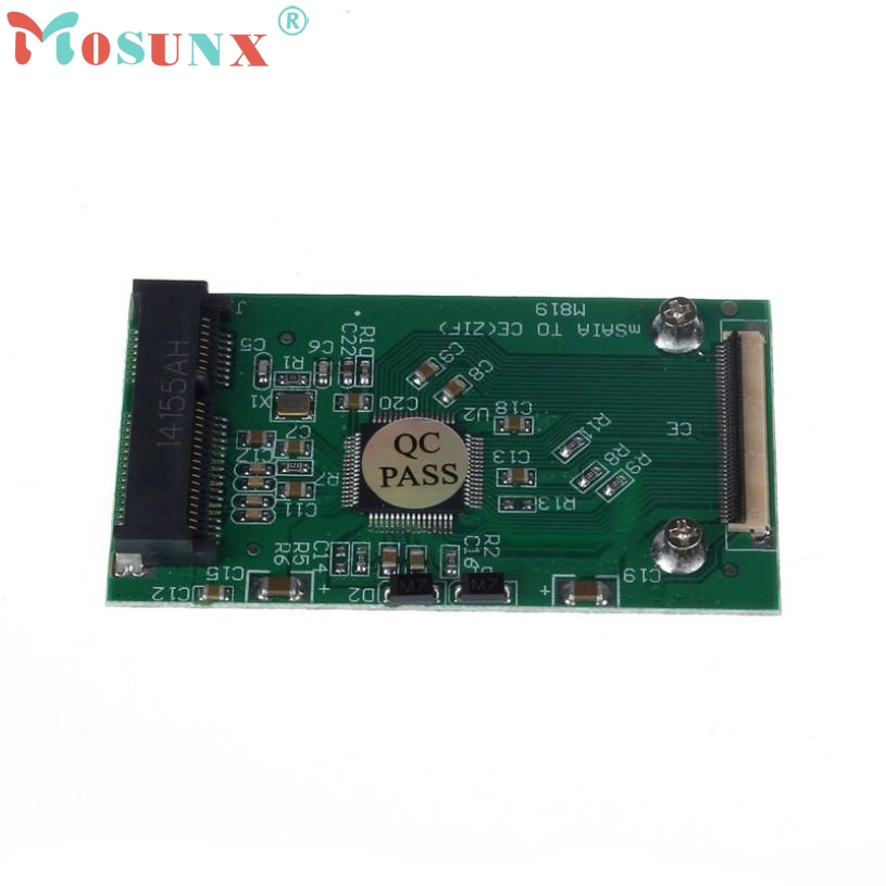 Levert Dropship Del New Mini mSATA PCI-E SSD To 40pin ZIF CE Cable Adapter Card High Quality Mar01 msata sata adapter sz0122 цена и фото