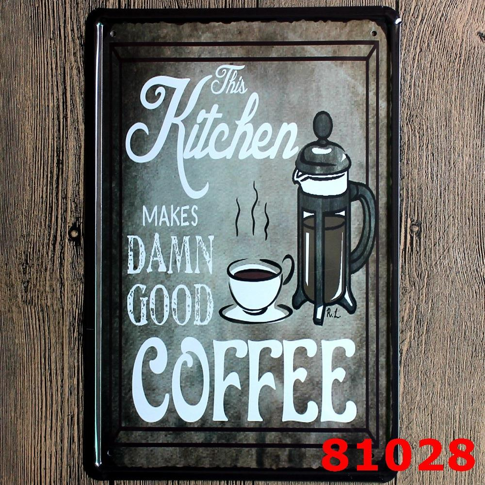 European American Coffee Vintage Bar Decoration Handicraft ...