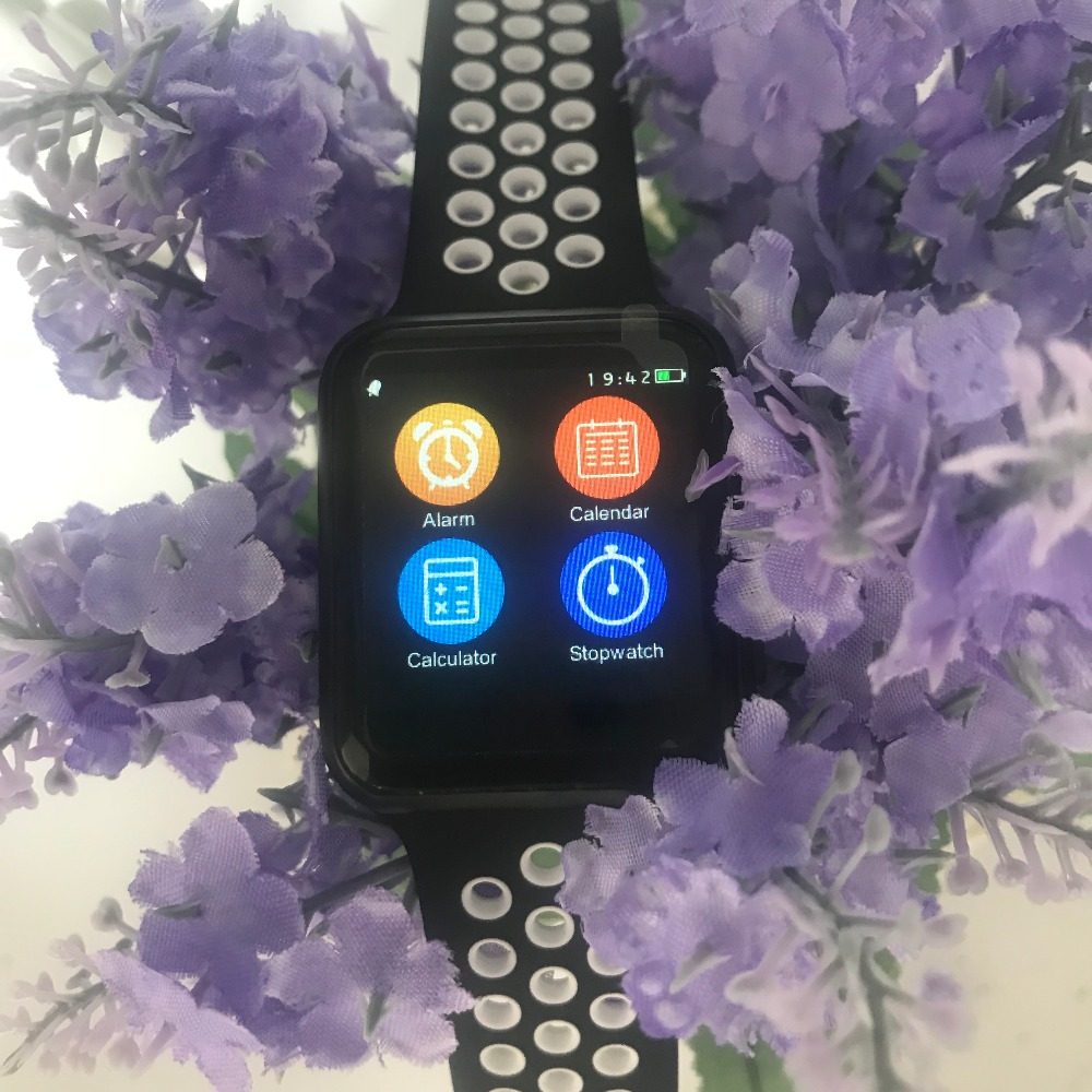 IWO 5 Smart Watch 42mm MTK2502C IWO 3 Upgrade Heart Rate Monitor Bluetooth Notifier Watch W53 for IOS Android phone(Black )
