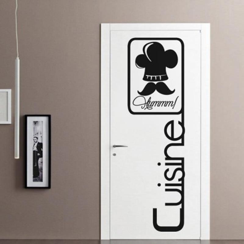 French Chef Kitchen Wall Sticker Restaurant Art Mural Home Decor Waterproof Wallpaper Jg1102 China