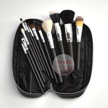 12 шт.. набор кистей для шт. макияжа с полиуретановой сумкой, набор кистей для макияжа, бесплатная доставка