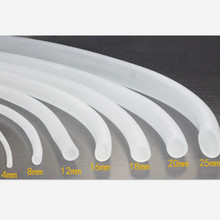 Silicone Hose / food grade transparent pipe / tank oxygen tube / hose rubber tube tasteless tendon цены онлайн