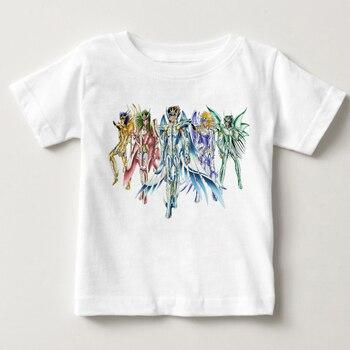 Camiseta de personajes de All Star de Saint Seiya para niños, diseño...