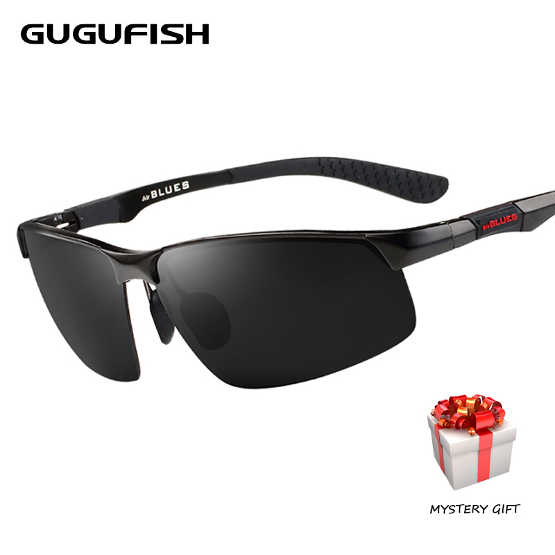 цена на GUGUFISH Aluminum magnesium polarized sunglasses male Fishing glasses leisure Sport fishing eyewear ride sunglasses eyewear