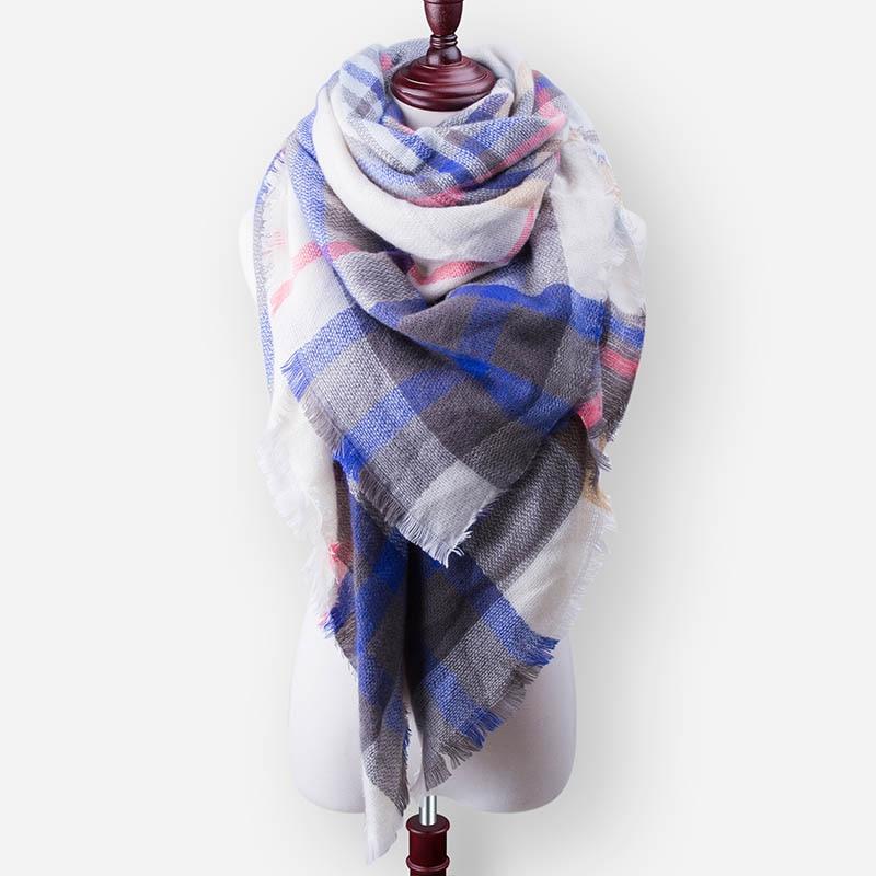Бренд Evrfelan, шарфы, Прямая поставка, женский зимний шарф, высокое качество, плед, одеяло, шарф и шаль, большой размер, плотные шарфы, шали - Цвет: W36