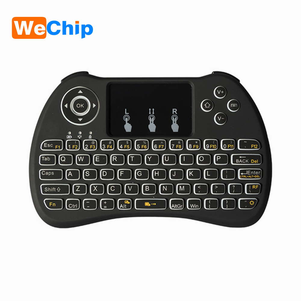 Wechip Original Backlight H9 2.4G Wireless English Keyboard Backlit with Touchpad for Mini PC Smart TV TV Box Laptop PC PK I8 2 4g mini wireless keyboard touchpad numeric keyboard charging switch screen for desktop laptop table