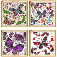Diy diamond painting cross stitch Animals Butterfly Full square Rhinestone diamond Mosaic embroidery Romantic lover Gift F110