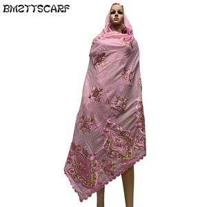 Image 5 - 100% COTTON SCARF african scarf muslim women pray scarf big size scarf for shawls BM730