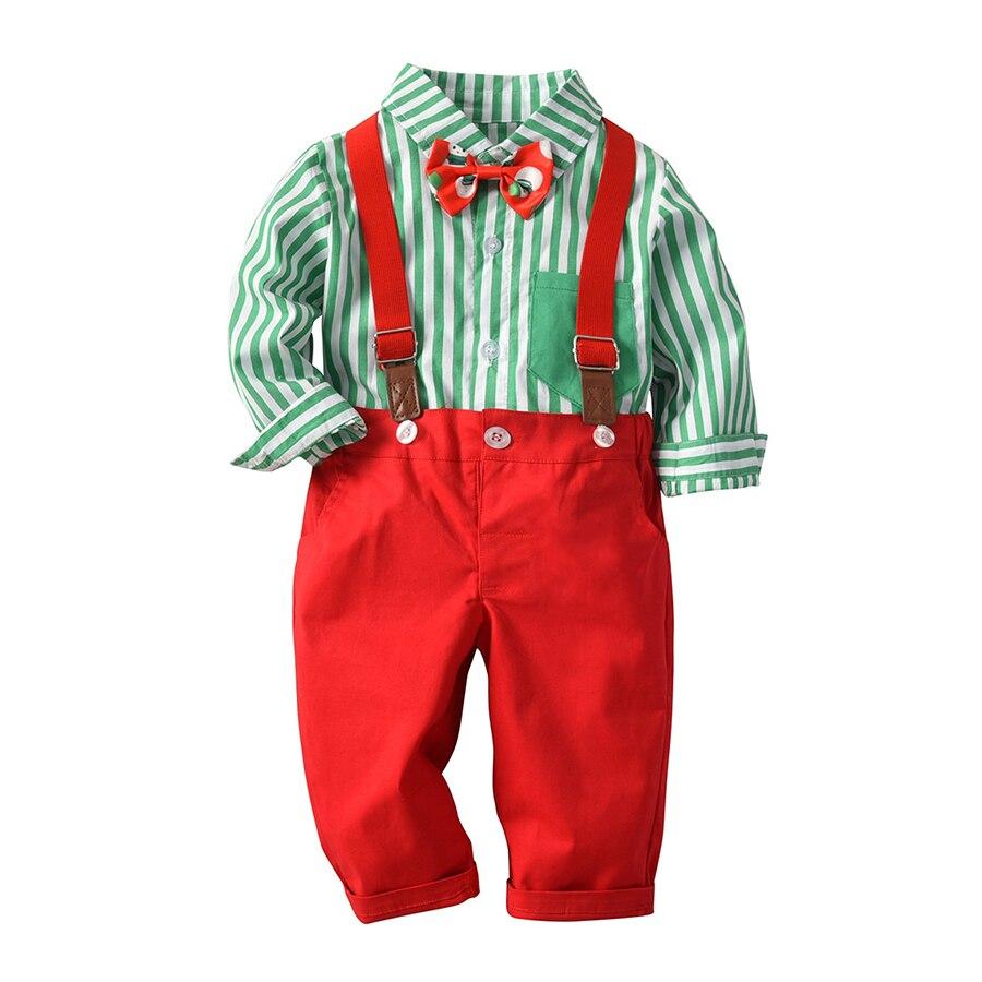 9e92ee2a6 Kimocat Kids Baby Boys Christmas Clothing Set Long Sleeve Shirt+ ...