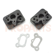 2Sets 1E40F-5 44F-5 BC430 CG430 CG520 43CC 52CC Brush Cutter Grass Trimmer Spare Parts Exhaust Manifold with Gasket